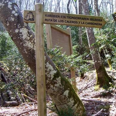 Ruta de los Caleros y la Carbonera / Karobiak eta Txondorra zidorra